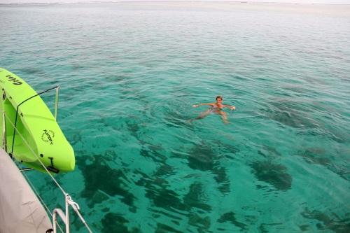 Greetings! The water is 24 feet deep here...