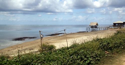 The beach at Punta Gorda, East End, Roatan